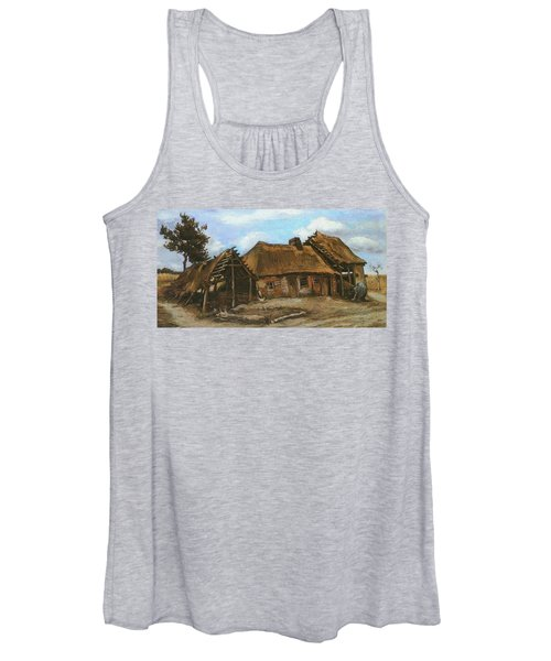 Cottage With Decrepit Barn And Stooping Woman, 1885 Women's Tank Top