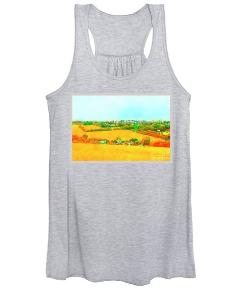 countryside  in Cornwall, UK Women's Tank Top