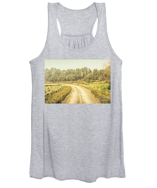 Countryside Road In Outback Australia Women's Tank Top