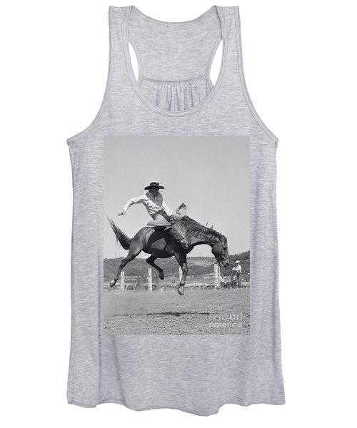 Cowboy On Bucking Horse, C.1950s Women's Tank Top