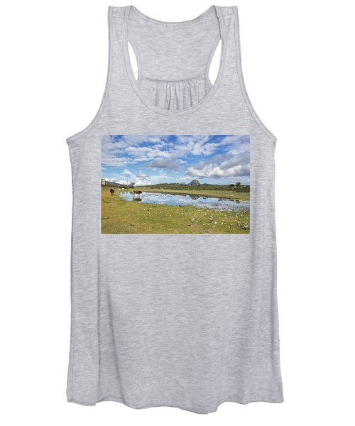 Reflected Cows  Women's Tank Top