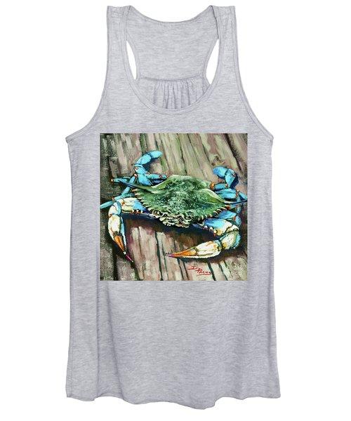 Crabby Blue Women's Tank Top
