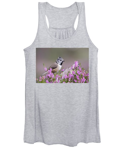 Crested Tit In Heather Women's Tank Top