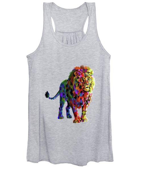 Geometrical Lion King Women's Tank Top