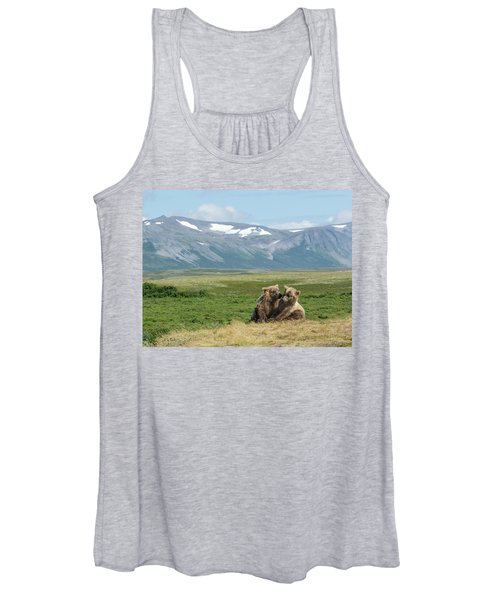 Cubs Playing On The Bluff Women's Tank Top