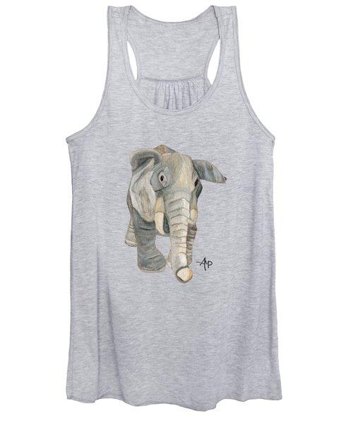Cuddly Elephant Women's Tank Top