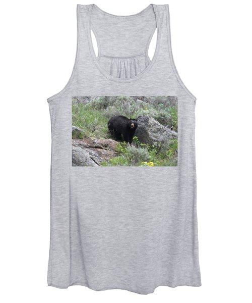 Curious Black Bear Women's Tank Top