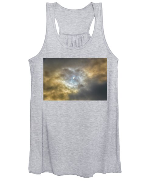 Curtain Of Clouds Eclipse Women's Tank Top