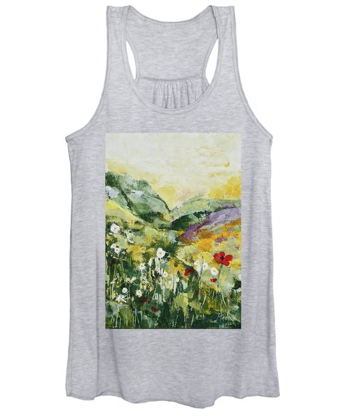 Daisies And Poppies Women's Tank Top