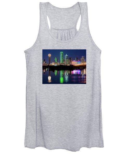 Dallas Skyline Reflection 91317 Women's Tank Top