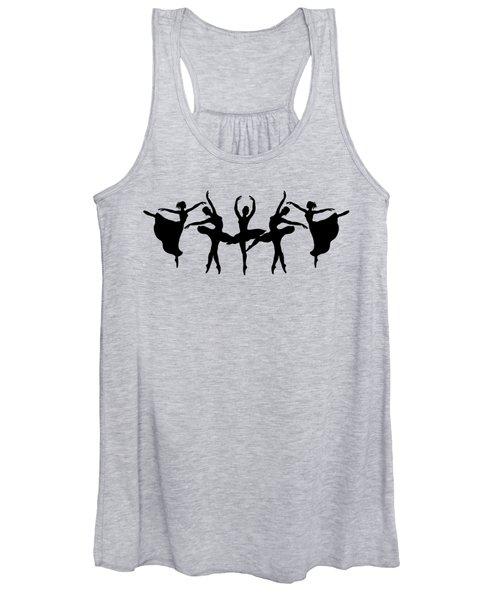 Dancing Ballerinas Silhouette Women's Tank Top