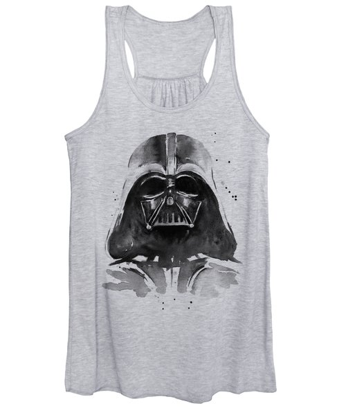Darth Vader Watercolor Women's Tank Top
