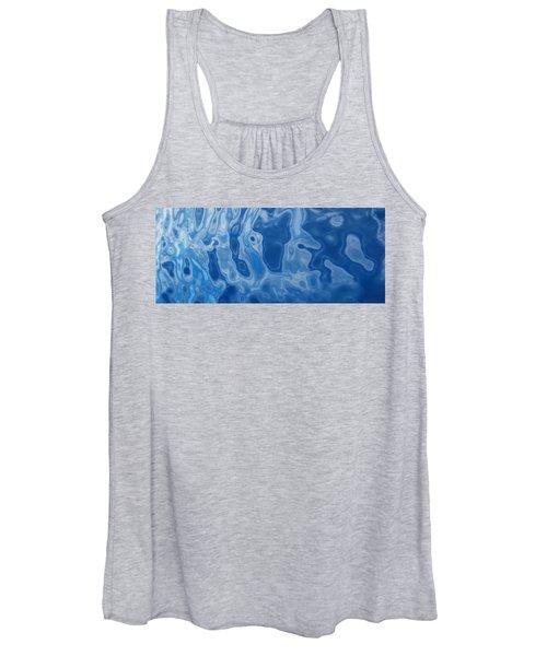 Deep Blue Tide Women's Tank Top