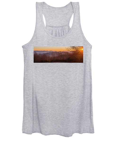 Deep Orange Sunrise Women's Tank Top