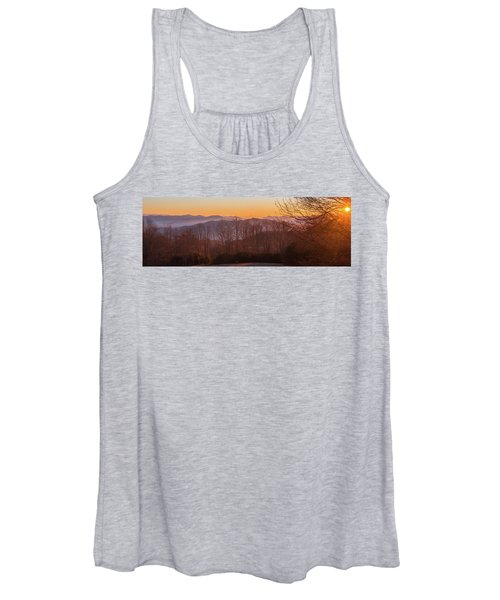 Deep Orange Sunrise Women's Tank Top