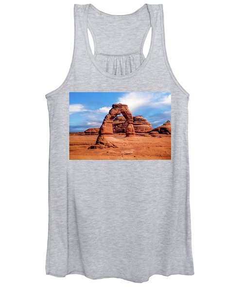 Delicate Arch From Lower Viewpoint Women's Tank Top