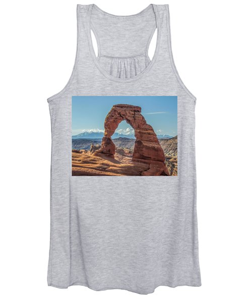Delicate Arch In Early Morning Women's Tank Top