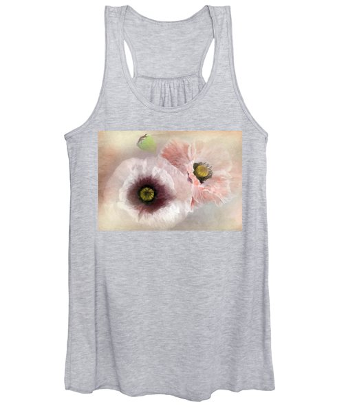 Delicate Pastel Poppies Women's Tank Top