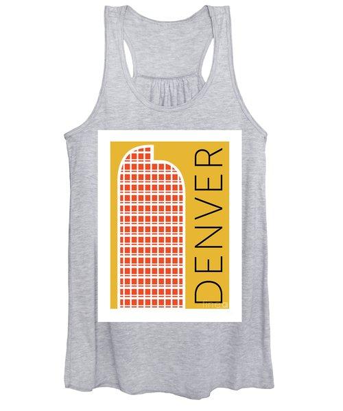 Denver Cash Register Bldg/gold Women's Tank Top