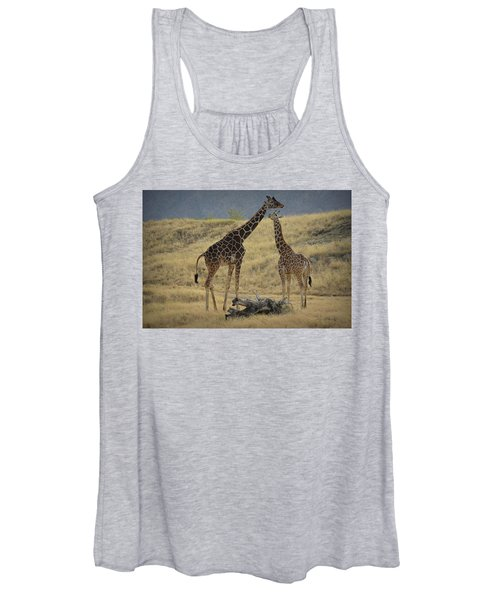 Desert Palm Giraffe Women's Tank Top