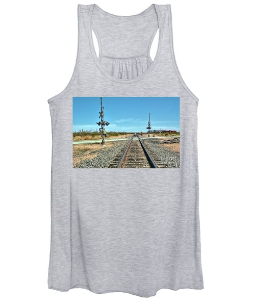 Desert Railway Crossing Women's Tank Top