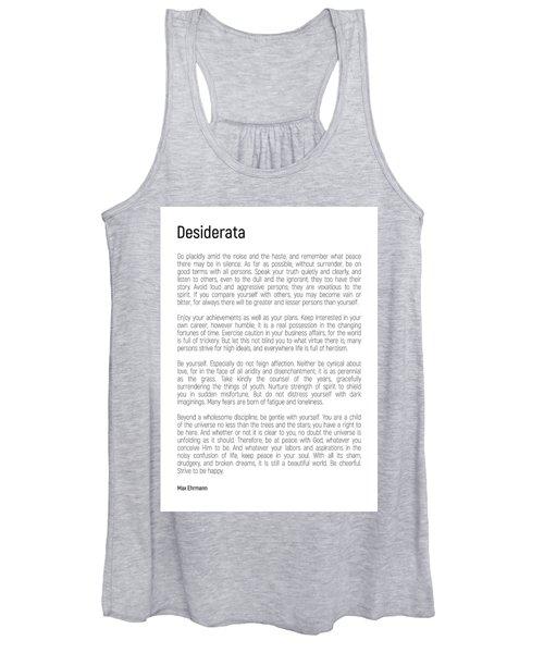 Desiderata #minimalism Women's Tank Top