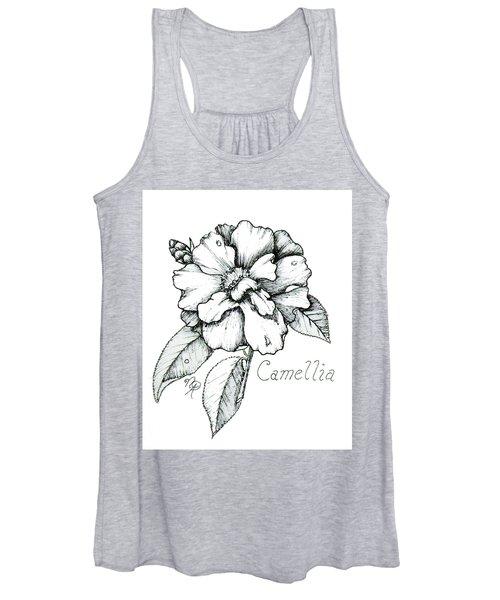 Dew Kissed Camellia Women's Tank Top