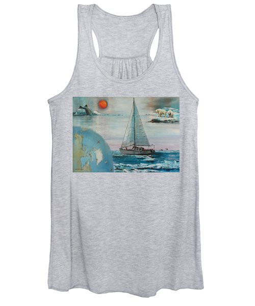 Ireland Canada Links..'' Northabout '' Rounding The North West Passage Women's Tank Top