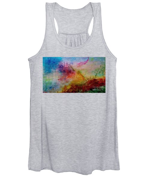 1a Abstract Expressionism Digital Painting Women's Tank Top