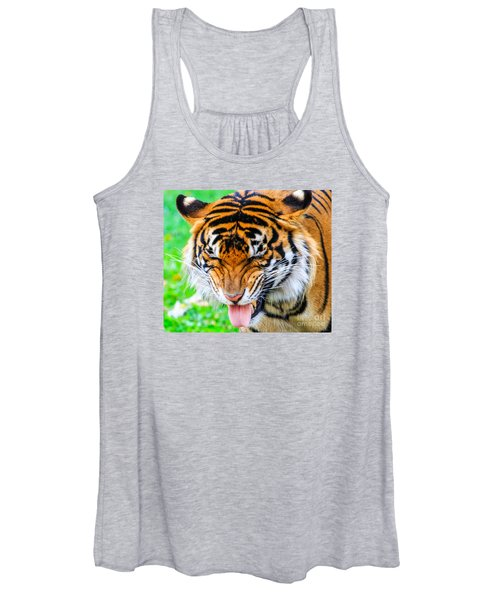 Disgusted Tiger Women's Tank Top