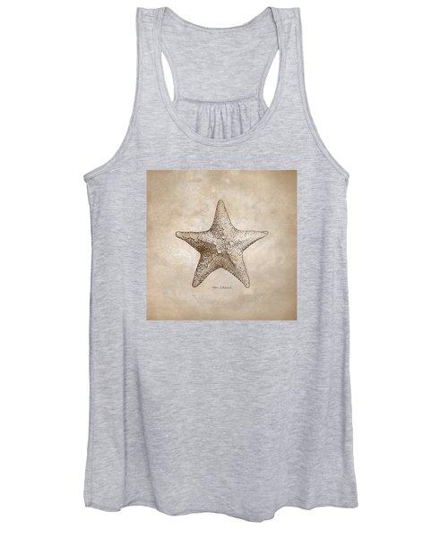Distressed Antique Nautical Starfish Women's Tank Top