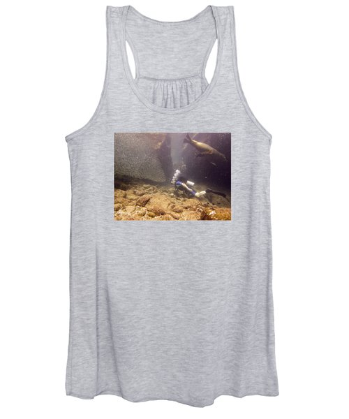 Diver And Sea Lion Women's Tank Top