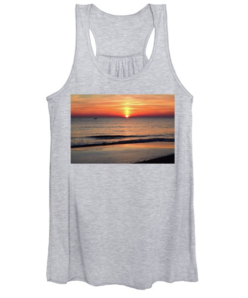 Dolphin Jumping In The Sunrise Women's Tank Top
