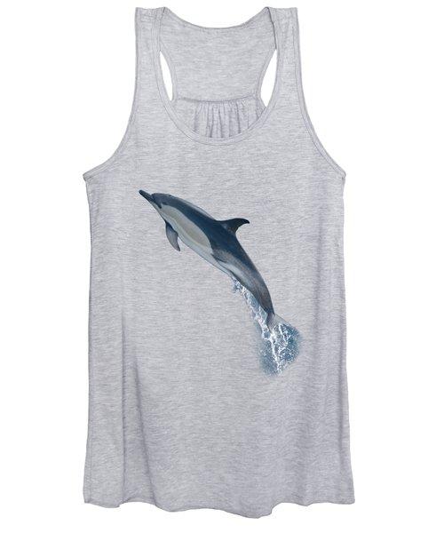 Dolphin Leaping T-shirt Women's Tank Top