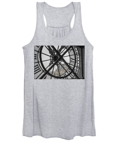 D'orsay Clock Paris Women's Tank Top