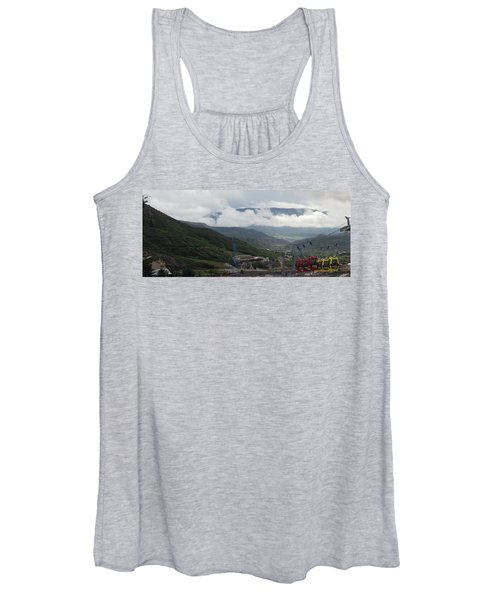 Down The Valley At Snowmass #3 Women's Tank Top