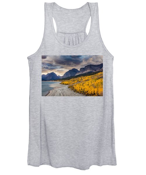 Dramatic Sunset Sky In Autumn  Women's Tank Top