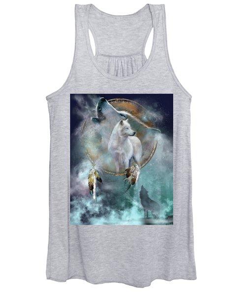 Dream Catcher - Spirit Of The White Wolf Women's Tank Top