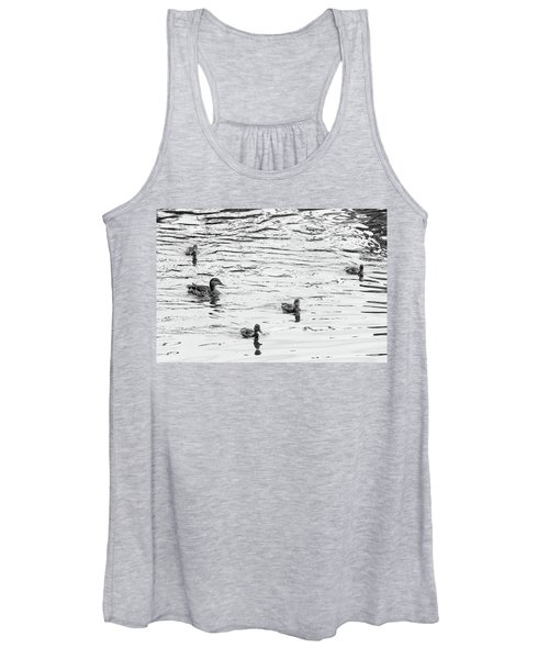 Duck And Ducklings Women's Tank Top
