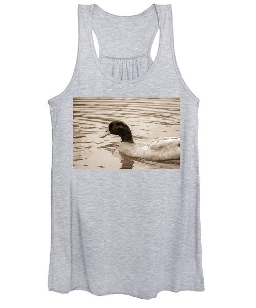 Duck In Pond Women's Tank Top