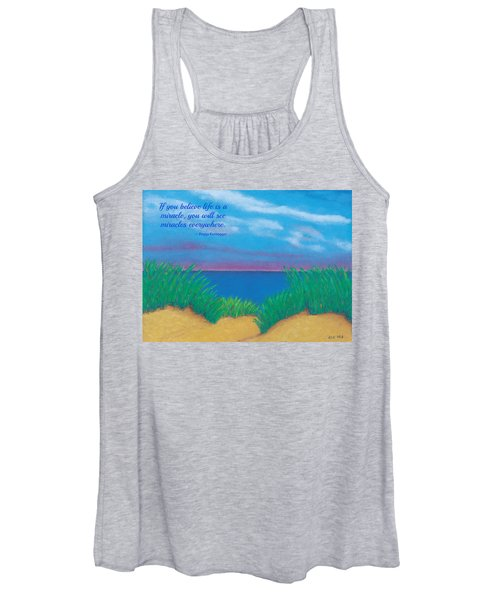 Dunes At Dawn - With Quote Women's Tank Top