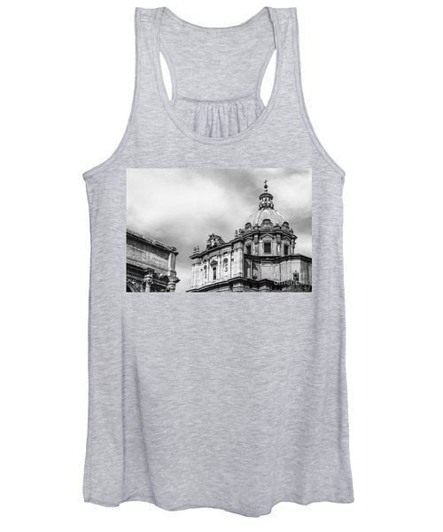 Duomo Of Santi Luca E Martina And Arch Of Septimius Severus  Women's Tank Top