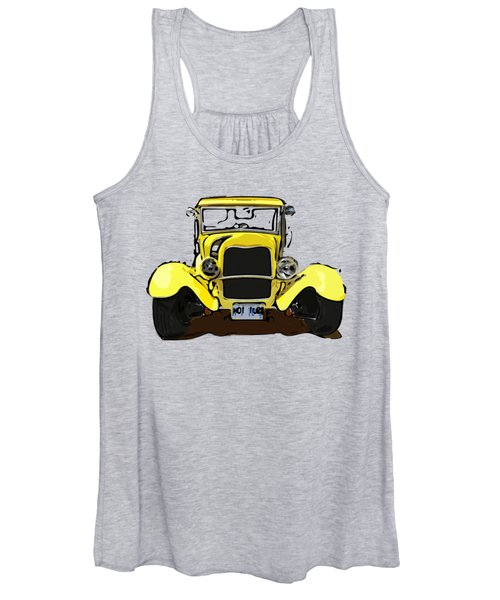 Early 1930s Ford Yellow Women's Tank Top