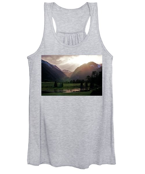Early Evening Light In The Valley Women's Tank Top