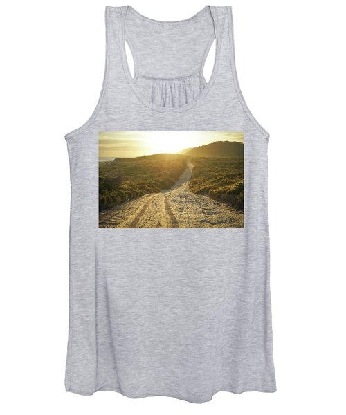 Early Morning Light On 4wd Sand Track Women's Tank Top