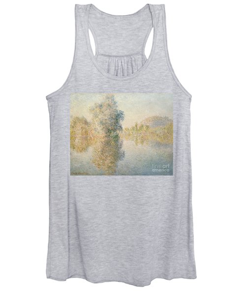 Early Morning On The Seine At Giverny Women's Tank Top