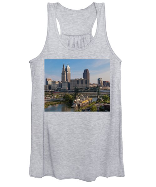 Early Morning Transport On The Cuyahoga River Women's Tank Top