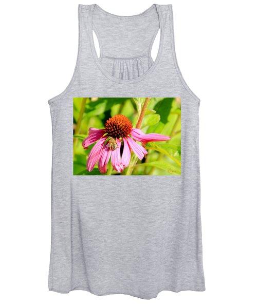 Echinacea Bee Women's Tank Top