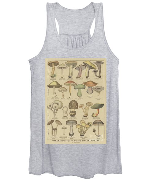 Edible And Poisonous Mushrooms Women's Tank Top