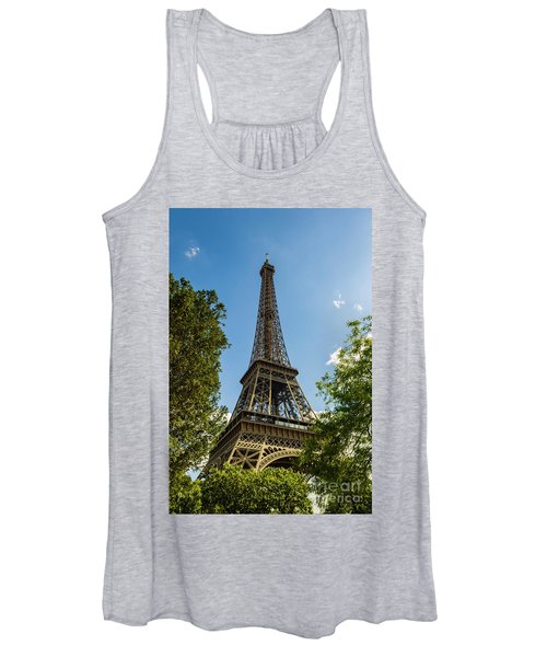 Eiffel Tower Through Trees Women's Tank Top
